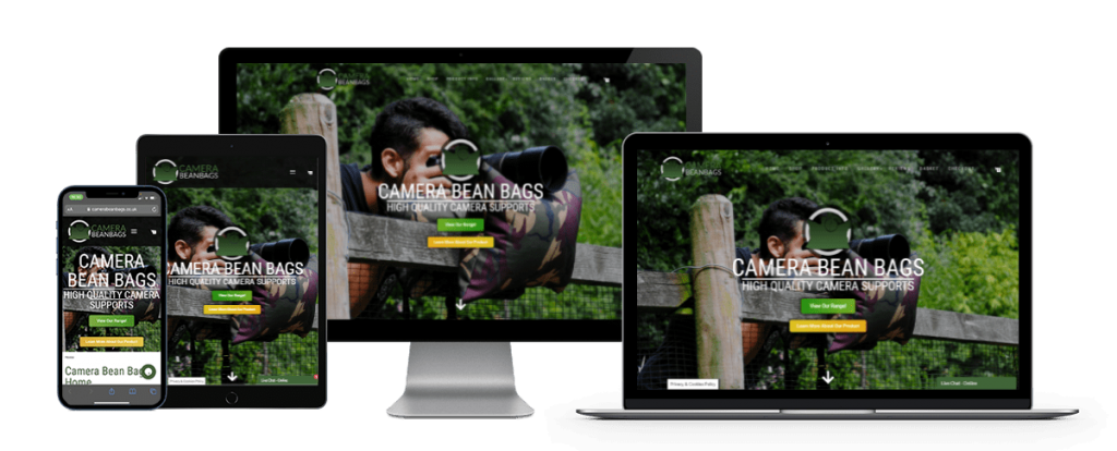 camera bean bags website design