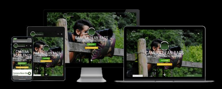 camera bean bags website design
