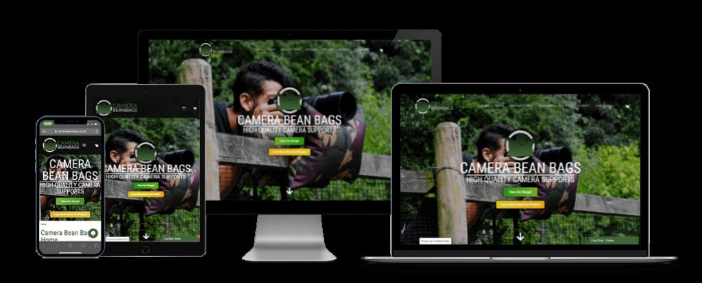 camera bean bags responsive website