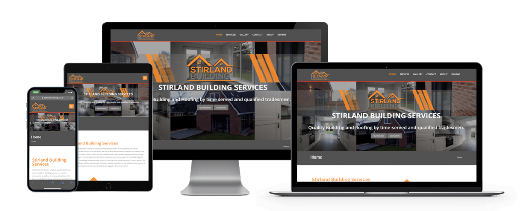 stirland building responsive website