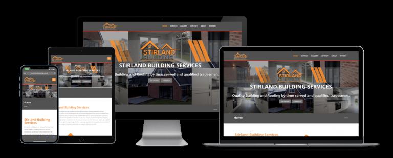 stirland building responsive website